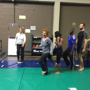 Coaches having fun at the Movement Therapy workhop