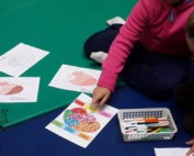 Children during a movement therapy workshop